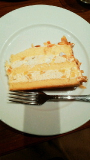 季節限定マロンのケーキ