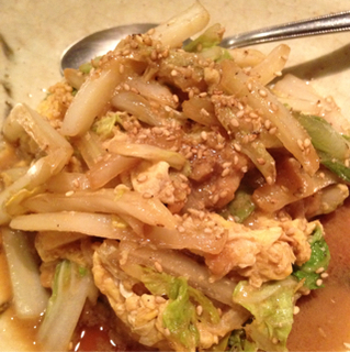 大粒牡蠣と白菜のオイスターソース炒め