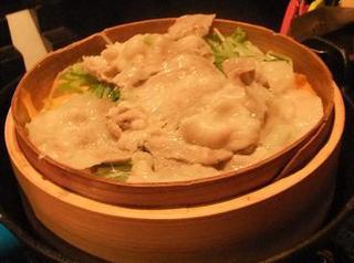 豚のセイロ蒸し鍋