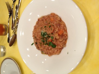 サルシッチャと根菜のリゾット