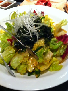 サニーレタスとワカメの韓国サラダ