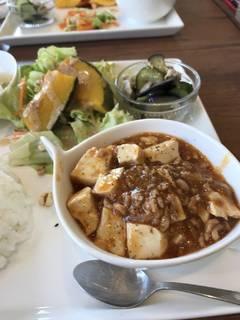 麻婆豆腐のプレート