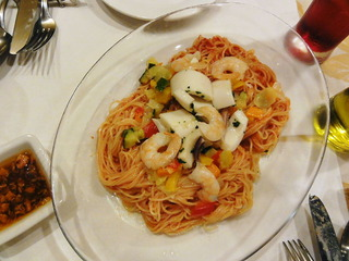 魚介と夏野菜の冷製カッペリーニ