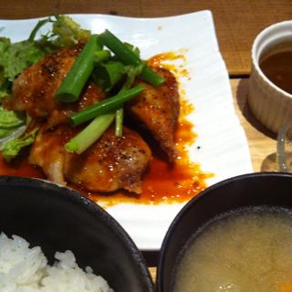本日のランチ 鶏ソテージンジャーソース
