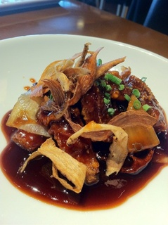 豚肉と根菜の黒酢酢豚