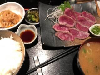 牛タタキ定食