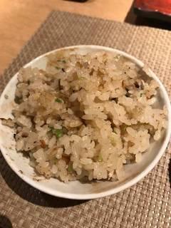 牡蠣と芹の炊き込みご飯