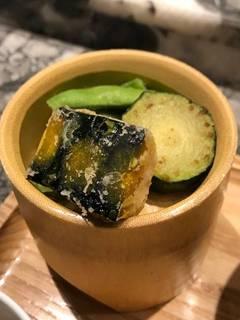 南京天婦羅、ズッキーニと枝豆