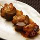 鶏もも肉と堀川牛蒡のはさみ串