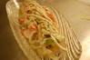 豆富とアボカドのわさび風味サラダ