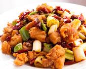 鶏肉の四川風ピリ辛炒め