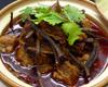 牛バラ肉と茶樹茸の土鍋