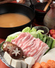桃茶豚の田舎風白味噌鍋コース