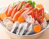 紅ずわい蟹寄せ鍋(醤油味)