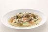 新鮮あさりと温野菜のチャウダークリームスープ