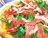 生ハムと有機水菜のサラダピザ
