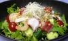 そば屋の海鮮サラダ