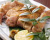 地鶏モモ肉の一枚焼き 柚子胡椒添え
