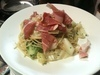 パルマ産生ハムとキャベツのスパゲティー