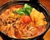 茜地鶏と丸ごとトマト鍋
