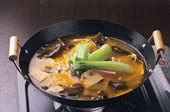 蟹みそと干豆腐の鍋