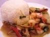 33 シーフードのバジル炒めかけご飯