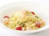 小海老と白菜、チンゲン菜のクリームスパゲッティ