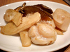 国産生ホタテとエリンギのバター焼