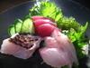 沖縄近海魚のお刺身盛り合わせ海ぶどう添え