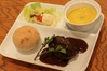 ハンバーグと野菜のポタージュスープ