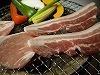 上州豚の炭火岩塩焼肉