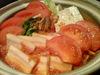 ベーコンと冬野菜のトマト鍋