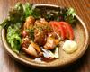 大山鶏のガーリックバター焼