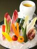 有機野菜と鰹酒盗のバーニャカウダー