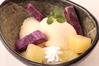 安納芋アイスと林檎のコンポート