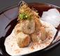 里芋もほっくり揚げ 桜海老のクリームソース和え