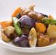 ごろごろ根菜と豚肉の黒酢炒め定食