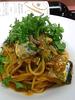秋刀魚のコンフィのトマトソーススパゲッティ