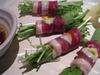 鴨トロの水菜巻き