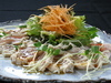 炙りムネ肉のカルパッチョ