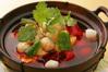 貝柱と揚げ豆腐の土鍋風煮込み