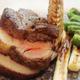 特撰ロース肉の低温調理かたまり焼き