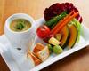 新鮮な野菜のバーニャカウダー