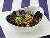 ムール貝とアサリとドライトマト黒オリーブのスパゲティ
