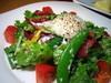 有機野菜のシーザーサラダ温泉卵添え