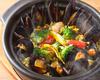 土鍋で炊いたたっぷりムール貝のパエリア