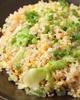 牛脂とレタスの炒飯