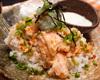 トロ鮭のアブリ丼