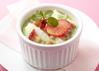抹茶と苺のなめらか杏仁豆腐