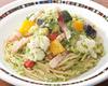 ベーコンと彩り野菜のブロッコリーソース